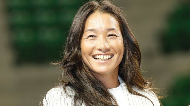 Tennis player Kimiko Date during a press conference on her second retirement at Ariake Coliseum on September 7, 2017 in Tokyo, Japan.