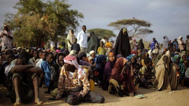 Entre 250 000 et 350 000 réfugiés somaliens vivent dans le camp de Dadaab.