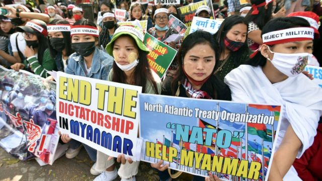 Myanmar, protests