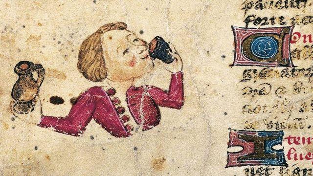 Detalle de página de De Arte Phisicali et de Cirurgia por John Arderne, manuscrito latino, siglo XV.