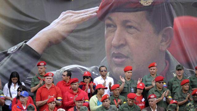 Una imagen de Hugo Chávez