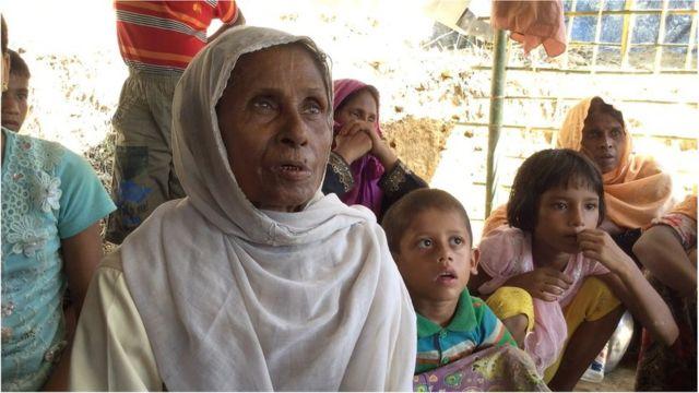 বাংলাদেশে আশ্রয় নেয়া রোহিঙ্গা নারী