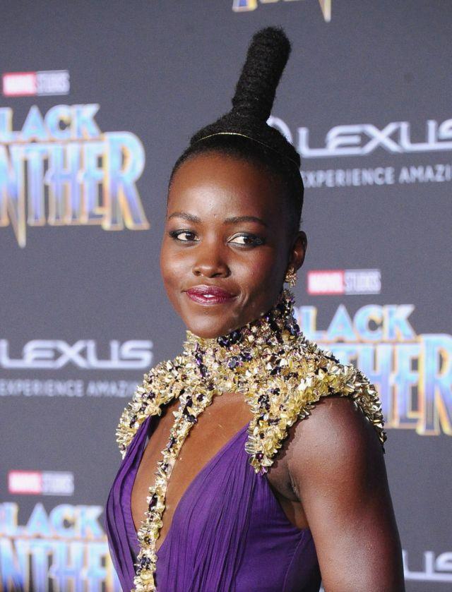 La actriz Lupita Nyong'o, participante en la película.