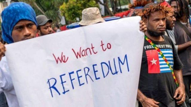 Ada elemen masyarakat Papua yang ingin referendum penentuan masa depan Papua.