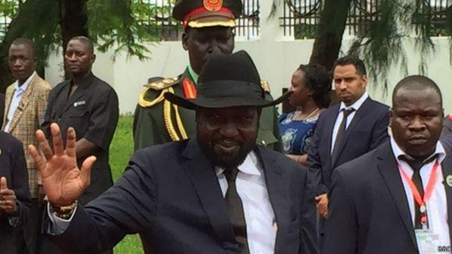 Salva Kiir le président sud-soudanais