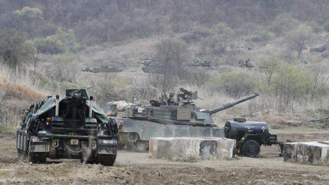 驻韩美军也在举行军事演习