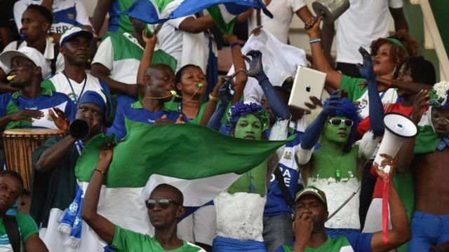 Sierra Leone football fans