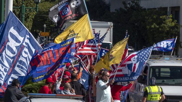 Cubanos pro Trump en Miami
