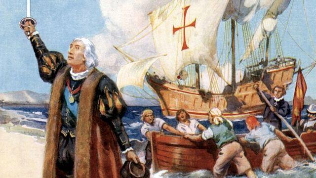 Ilustración de Cristóbal Colón
