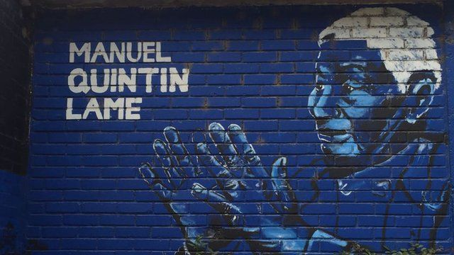 Mural en una escuela del municipio de Jambaló, en el Cauca.