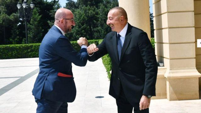 Prezident İlham Əliyev və Aİ prezidenti Charles Michel