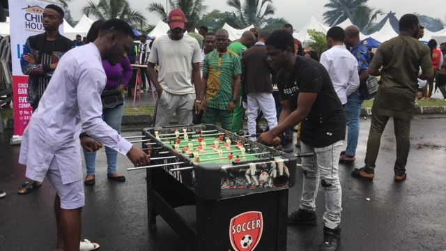 Pipo wey dey play games during di bola festival