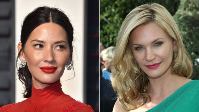 Olivia Munn (left) and Natasha Henstridge
