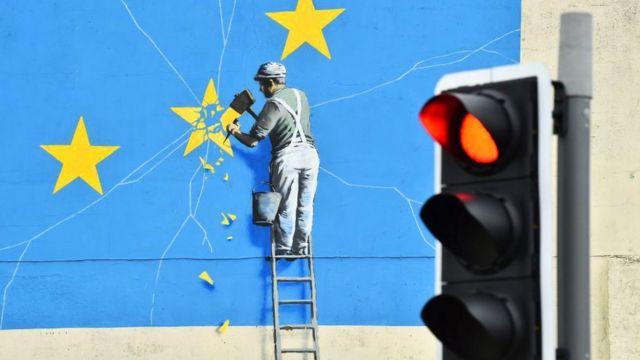 """Чем закончится """"Брексит""""? Банкси в Дувре"""