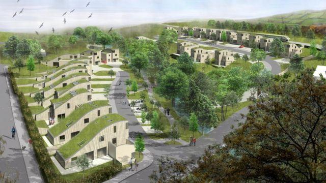 Eco-village plan near Abergavenny branded 'Teletubby town'