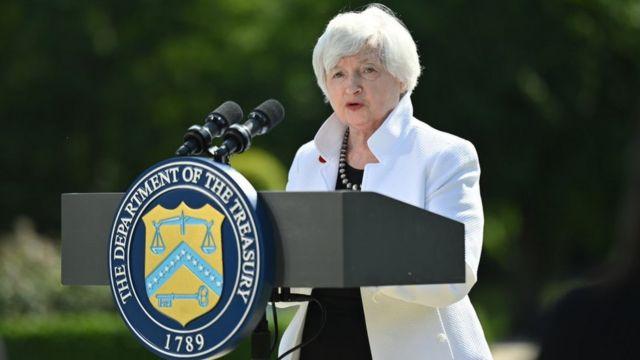 A secretária do Tesouro dos EUA, Janet Yellen