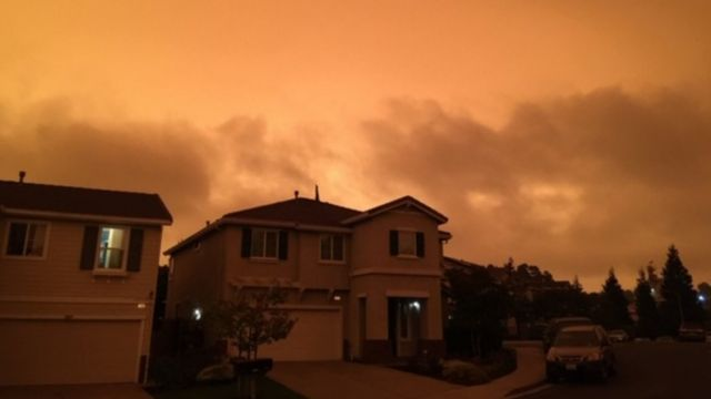 Bầu trời vùng Vịnh San Francisco trưa ngày 9/9/2020