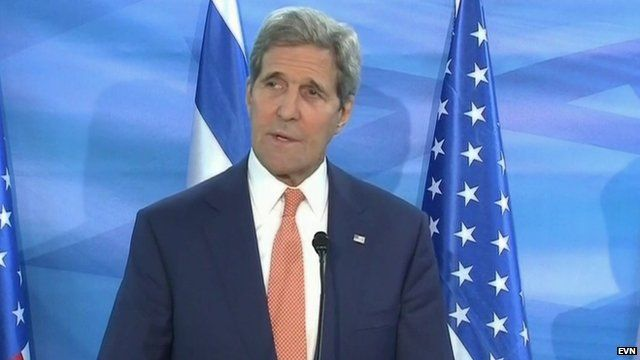 "John Kerry told a press conference in Jerusalem that recent violent attacks on Israelis were ""acts of terrorism"""