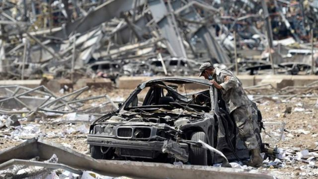 Dampak ledakan hebat di Beirut, Lebanon