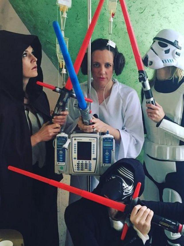 Disfrazados de personajes de Star Wars