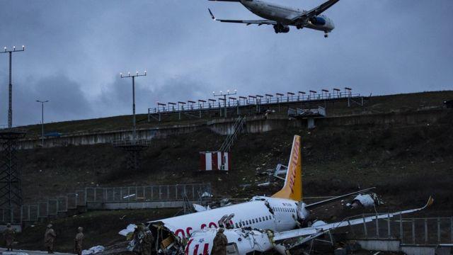 Pegasus kaza yapan uçak