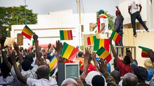 Meeting politique à Bamako au Mali