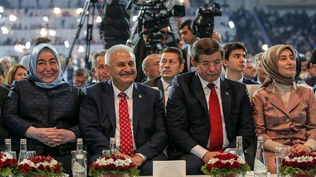 Semiha ve Binali Yıldırım ile Ahmet ve Sare Davutoğlu