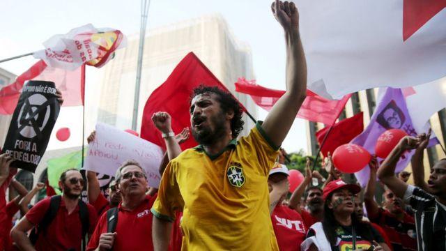 Simpatizantes de Dilma Rousseff
