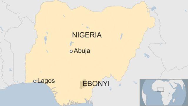 Aworan orilẹede Naijiria to n se afihan ipinlẹ Ebonyi