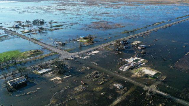 Inundaciones causadas en octubre de 2020 por el huracán Delta en Luisiana.