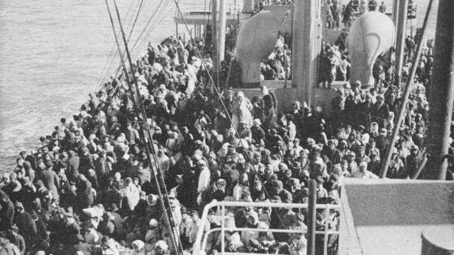 Geladak kapal SS Meredith Victory