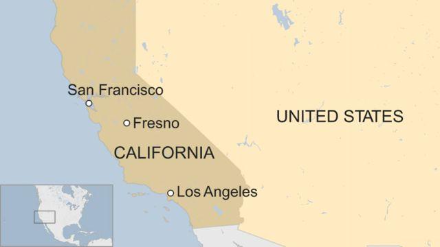 フレズノ(Fresno)の位置