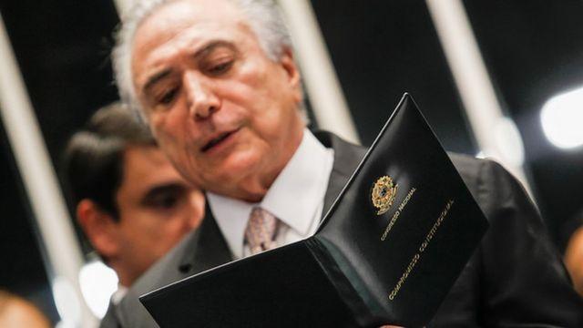 Presidente Michel Temer durante sua posse no Senado Federal (Brasília - DF, 31/08/2016)