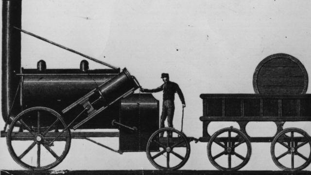 Motos a vapor desenvolvido por George Stephenson