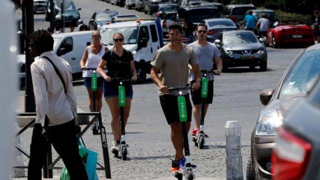Scooters de Lime
