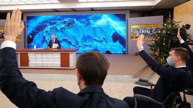 СМИ сообщали о карантине для журналистов, посетивших пресс-конференцию Владимира Путина