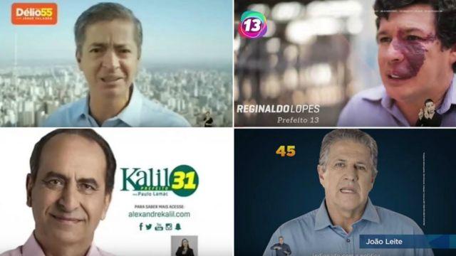 Candidatos à prefeitura de BH Délio Malheiros, Reginaldo Lopes, João Leite e Alexandre Kalil