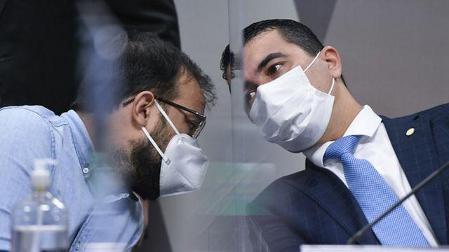 Luis Ricardo e Luis Claudio Miranda na CPI