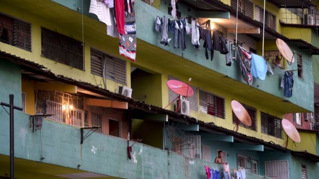 Barrio pobre en Panamá.