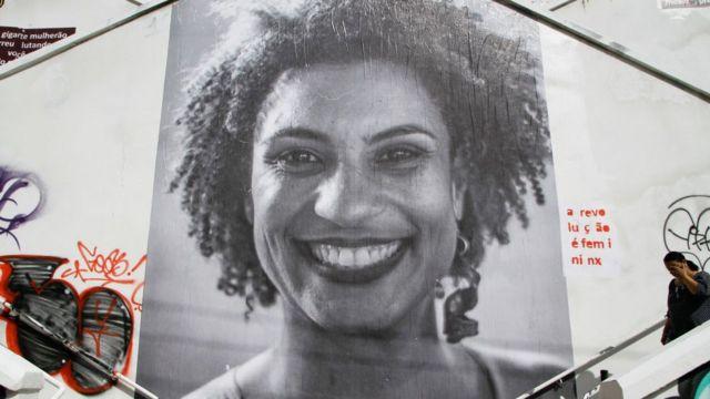 Cartel conmemorativo de Marielle Franco.