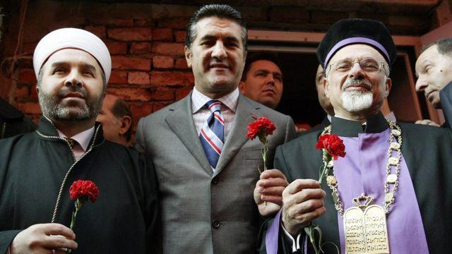 Çeşitli dinlerden liderlerle Sarıgül