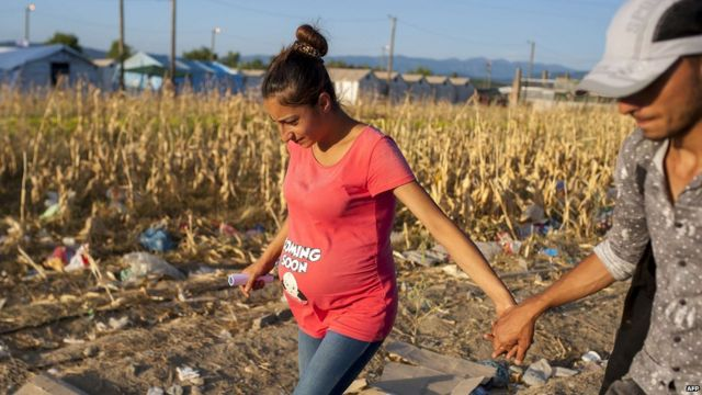 Two migrants cross into Macedonia from Greece