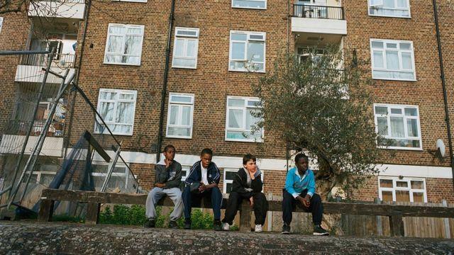 Children in Hackney.