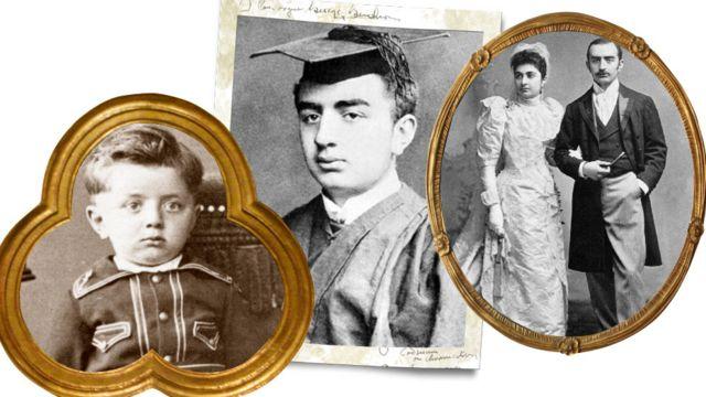 Fotos de su infancia, juventud y matrimonio