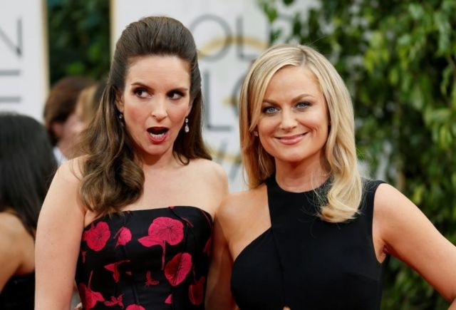 Comedians Tina Fey and Amy Poehler.