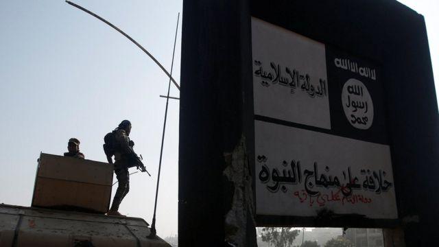 Musul'un Arabi mahallesinde daha önce IŞİD'in elinde bulunan bir nokta