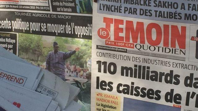 """La presse sénégalaise a rendu hommage a celui qu'elle a surnommé le """"Roi des arènes"""""""