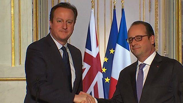 David Cameron and President Hollande