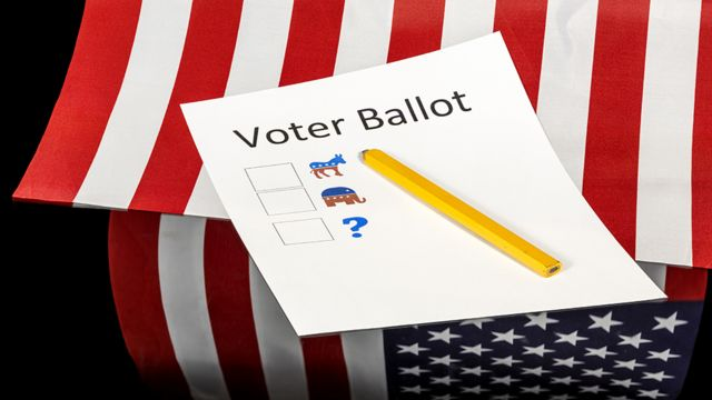 A ballot in the United States