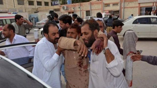 बलुचिस्तानच्या स्फोटातील जखमी नागरिक